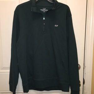 Vineyard Vines 1/4 zip solid shirt